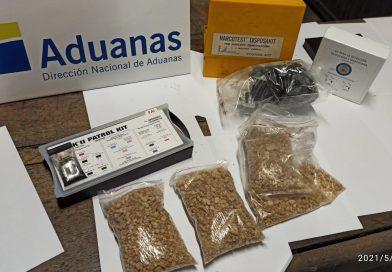 Aduana del Chuy incauta más de un kilo de ÉXTASIS